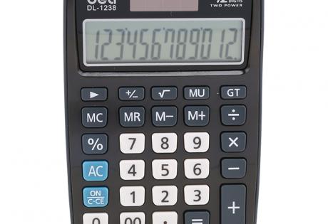 Máy tính 12 số deli 1238