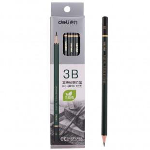 Bút chì gỗ 3B cao cấp Deli 6836
